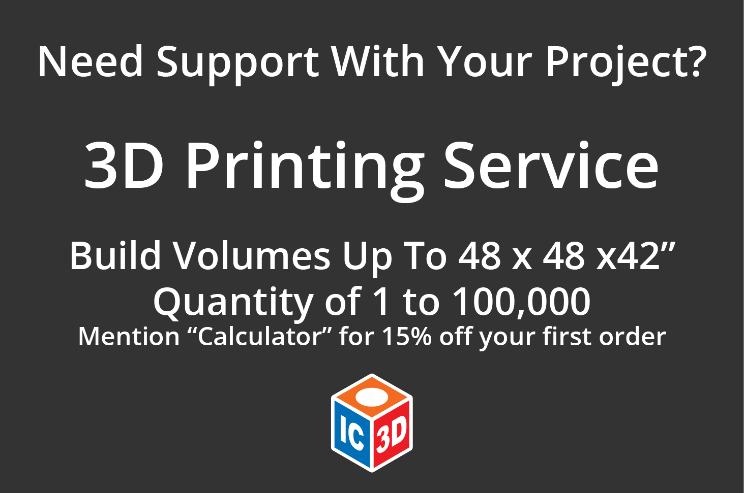 IC3D offers 3D printing services, located in Columbus OH!