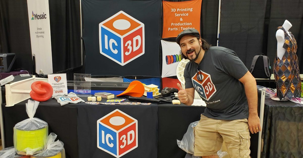 IC3D Printers at the 2019 East Coast RepRap Festival in Bel Air, Maryland